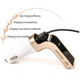 Car Charger 4 in 1 Bluetooth Handsfree FM Transmitter MP3 - G7 - Silver - 7
