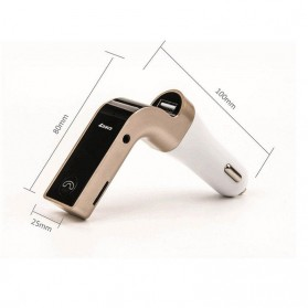Car Charger 4 in 1 Bluetooth Handsfree FM Transmitter MP3 - G7 - Silver - 8