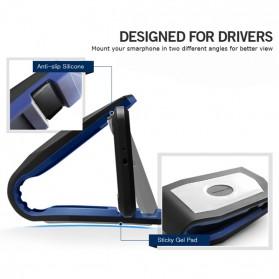 Universal Stealth Cradle Holder Smartphone Mobil Alligator Clip - Blue/Black - 2
