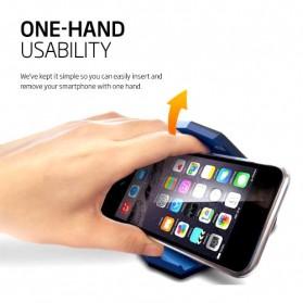 Universal Stealth Cradle Holder Smartphone Mobil Alligator Clip - Blue/Black - 5