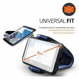 Universal Stealth Cradle Holder Smartphone Mobil Alligator Clip - Blue/Black - 6