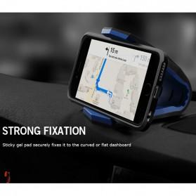 Universal Stealth Cradle Holder Smartphone Mobil Alligator Clip - Blue/Black - 7