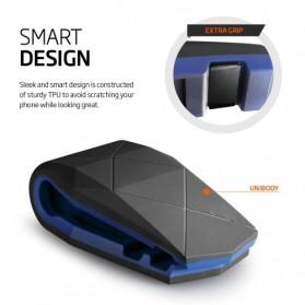 Universal Stealth Cradle Holder Smartphone Mobil Alligator Clip - Blue/Black - 8