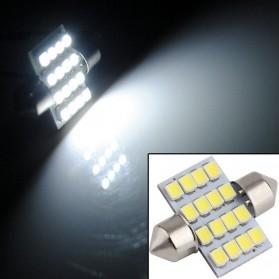 Lukstar Lampu Interior Mobil LED Super White 31mm Festoon 16 SMD 1210 - 2 PCS - White - 2