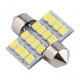 Lukstar Lampu Interior Mobil LED Super White 31mm Festoon 16 SMD 1210 - 2 PCS - White - 3