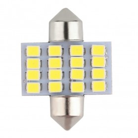 Lukstar Lampu Interior Mobil LED Super White 31mm Festoon 16 SMD 1210 - 2 PCS - White - 4