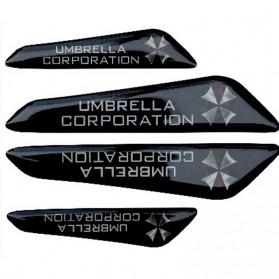 Pelindung Pintu Mobil Silicone Car Door Bumper Guard Resident Evil Model - Black