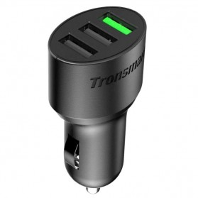 Tronsmart Charger Mobil 3 Port QC 3.0 & VoltlQ - Black