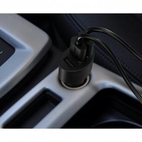 Tronsmart Charger Mobil 3 Port QC 3.0 & VoltlQ - Black - 5
