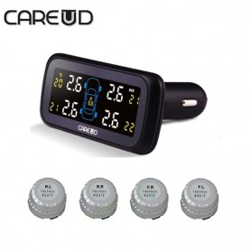 Careud Monitoring Tekanan Ban Mobil TPMS PSI BAR Diagnostic Tool with 4 External Sensor - U903Z-WF - Black