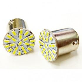 Lampu Rem Mobil LED 1156 BA15S SMD 3014 2 PCS - White - 2