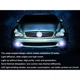 MaxGTRS Lampu Fog Light Mobil LED H3 T10 SMD 5630 2 PCS - SMDWB - White - 4