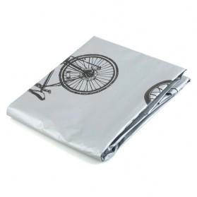 TaffSPORT Cover Sarung Pelindung Sepeda dan Motor Matic - UV-2000 - Gray - 2