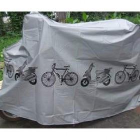 TaffSPORT Cover Sarung Pelindung Sepeda dan Motor Matic - UV-2000 - Gray - 4