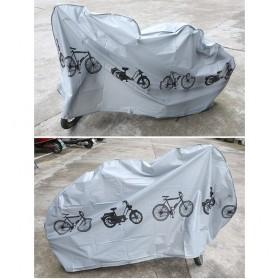 TaffSPORT Cover Sarung Pelindung Sepeda dan Motor Matic - UV-2000 - Gray - 10