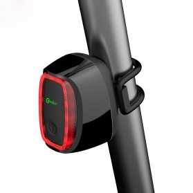 Meilan X6 Lampu Sepeda Rechargeable Bicycle Smart Taillight - Black - 3