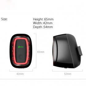 Meilan X6 Lampu Sepeda Rechargeable Bicycle Smart Taillight - Black - 4