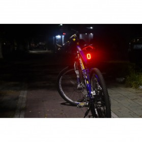Meilan X6 Lampu Sepeda Rechargeable Bicycle Smart Taillight - Black - 6