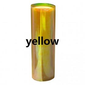 Stiker Kaca Lampu Mobil Shiny Chameleon 120 x 30 cm - Yellow