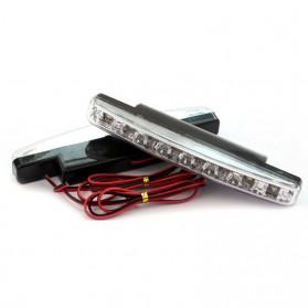 Lampu Fog Light Mobil Daytime LED 6000K 12V - LDN - Black - 5