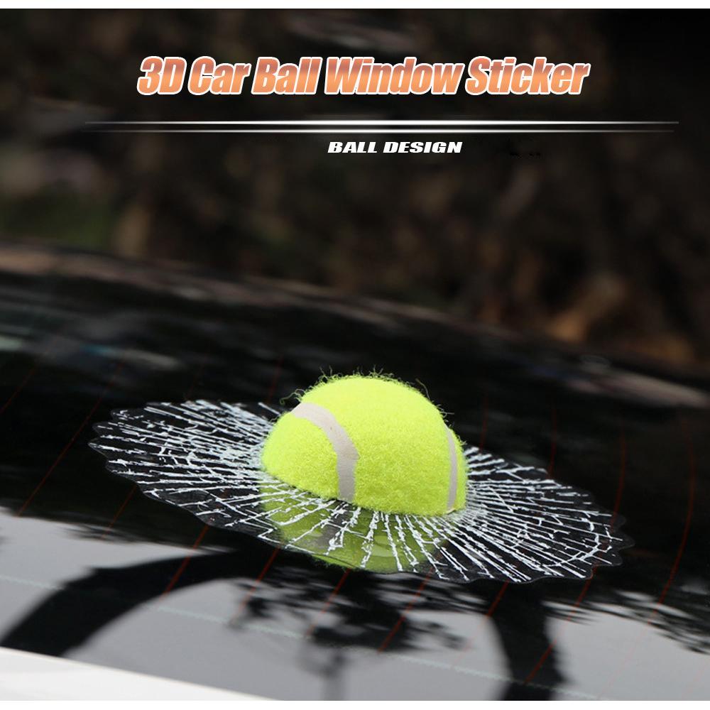 Stiker 3d Mobil Model Bola Tenis Green Tennis 2