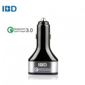 IBD Charger Mobil Qualcomm Quickcharge 3.0 3 Port USB - IBD308 - Black - 2