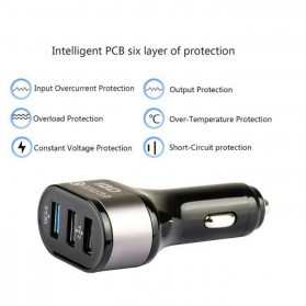 IBD Charger Mobil Qualcomm Quickcharge 3.0 3 Port USB - IBD308 - Black - 3