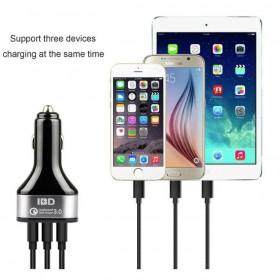 IBD Charger Mobil Qualcomm Quickcharge 3.0 3 Port USB - IBD308 - Black - 6