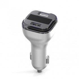 Car Charger 2 Port QC 2.0 - H100Q - Silver