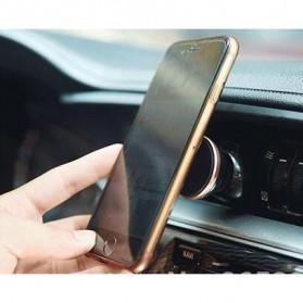 Smartphone Car Holder Magnetic Air Vent Mount - 161202 - Silver Black - 3