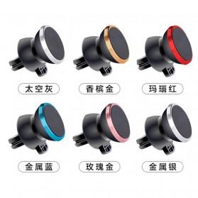 Smartphone Car Holder Magnetic Air Vent Mount - 161202 - Silver Black - 4