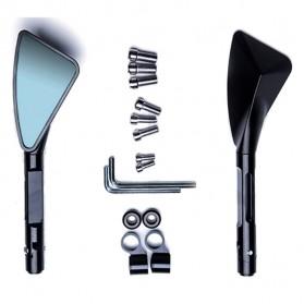 Kaca Spion Motor CNC Aluminium Rearview Mirror - QX-1222-2 - Black