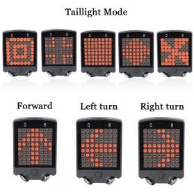 Lampu Belakang Sepeda 64 LED dengan Remote Control - ZXD01 - Black - 2