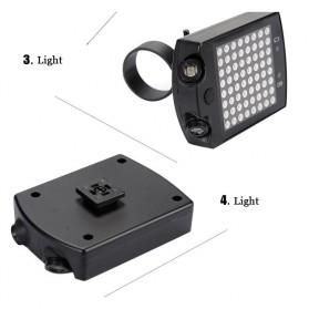 Lampu Belakang Sepeda 64 LED dengan Remote Control - ZXD01 - Black - 4