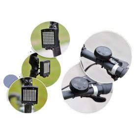 Lampu Belakang Sepeda 64 LED dengan Remote Control - ZXD01 - Black - 5
