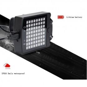 Lampu Belakang Sepeda 64 LED dengan Remote Control - ZXD01 - Black - 6