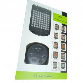 Lampu Belakang Sepeda 64 LED dengan Remote Control - ZXD01 - Black - 7