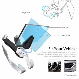 AutoBot Air Vent Smartphone Car Holder - Silver - 4