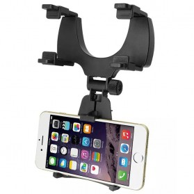 Zensime Rear Mirror Smartphone Mount Car Holder - C-001 - Black