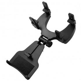 Zensime Rear Mirror Smartphone Mount Car Holder - C-001 - Black - 3