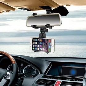 Zensime Rear Mirror Smartphone Mount Car Holder - C-001 - Black - 4