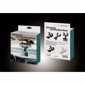 Zensime Rear Mirror Smartphone Mount Car Holder - C-001 - Black - 5
