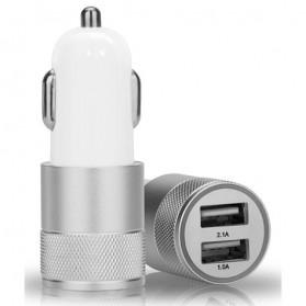 Nokoko Smart Car Charger Dual USB 2.1A - Silver