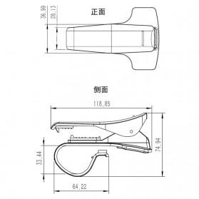 Dashboard Smartphone Mount Car Holder - 170212 - Black - 8