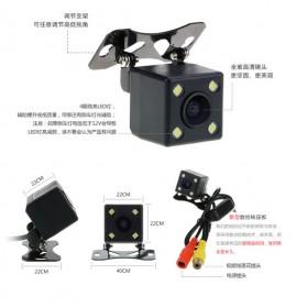 Kamera Belakang Mobil Nightvision dengan Parking Guide Line - Black - 2