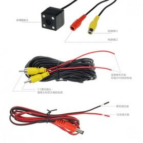 Kamera Belakang Mobil Nightvision dengan Parking Guide Line - Black - 3