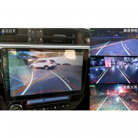 Kamera Belakang Mobil Nightvision dengan Parking Guide Line - Black - 5