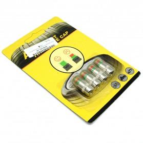 Pentil Ban Mobil Tire Valve Cap Pressure Monitoring 4 PCS - 231 - White