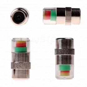 Pentil Ban Mobil Tire Valve Cap Pressure Monitoring 4 PCS - 231 - White - 3