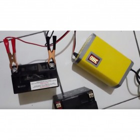 Charger Aki Mobil Motor 12V 6A with LCD Indicator - FBC1205D - Red - 7